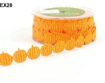 Pumpkins Ribbon - Orange - 1 inch  - You Choose Yards