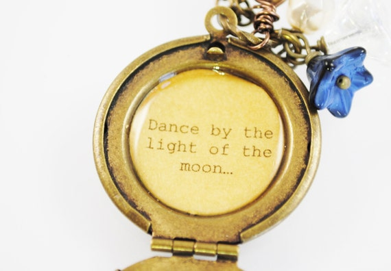 Dance By The Light Of The Moon Women 39 S Quote Locket