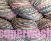 Fingering Weight Handpainted Sock Yarn in Girlie Girl Superwash