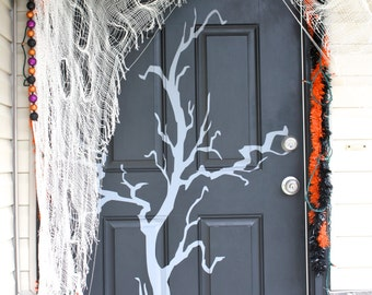 Skinny Creepy Halloween Tree- Vinyl Wall Art