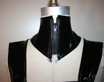 Pvc Neck corset with zipper