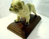Vintage Porcelain Bulldog Figure