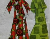 "Vintage 70s Hawaiian Muu-Muu Sewing Pattern Polynesian Pattern 188 Size 14 ""Kahiko"" mumu"