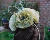 Green Floral Headdress