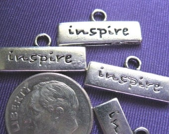 Inspire Charm Tibetan Silver Jewelry Supply 5 pieces