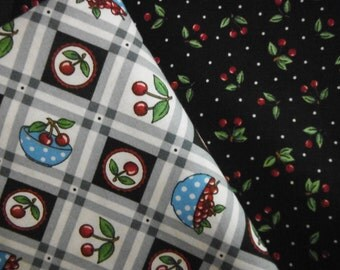 Mary Engelbreits Cherries Fabric--Hard Fin--Low Price