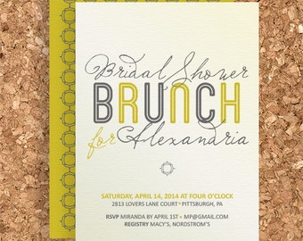 Bridal Shower Brunch Design (DIY Printable Wedding, Baby Shower, or Birthday Invitation) - Print Your Own Party