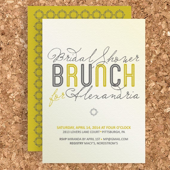 bridal shower brunch design diy printable wedding baby, Einladung
