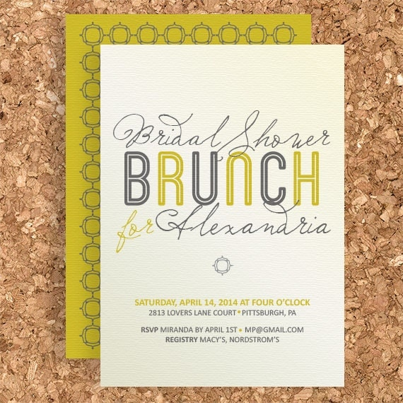 bridal shower brunch design diy printable wedding baby, Birthday invitations