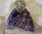 Chevron Amethyst with a Sterling Silver Bail