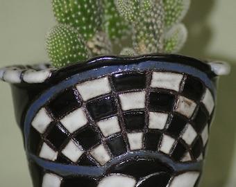 Checkers Cactus Planter