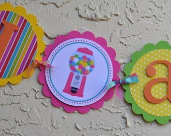 Sweet shop, candy land, I am 1 high chair banner READY TO SHIP