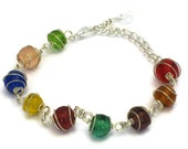 Rainbow Gumball Bracelet, Gifts for Women Wife Mom Daughter Sister Grandma Under 15, Mothers Day Birthday Christmas Gifts