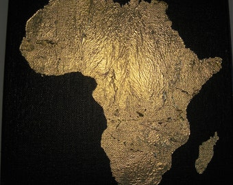 Gold Leaf painting of Africa