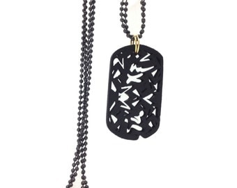 Eco-Friendly  Bamboo Tag  Necklace