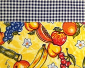 Custom order for Tania---Reversible funky fruit print oilcloth placemats For TANIA