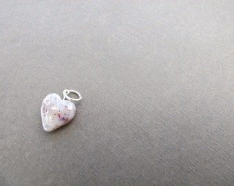 Flower Petal Heart Charm/ Made From Your Flowers/ Wedding and Funeral Bead Keepsake
