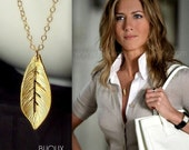 Leaf Necklace - Jennifer Aniston - 14K Goldfilled - Celebrity Style
