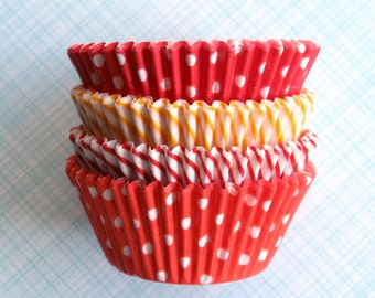 Sunshine Mix Cupcake Liners - Red, Yellow and Orange Cupcake Papers (100)