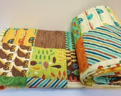 Crib Quilt Baby Boy Quilt-Smore Love, Owls, Camping, Fish, Woodland Outdoor Theme, Moda Fabric