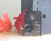 Tintype: Creepy Faced Boy, Unusual Decor, Gothic, Weird