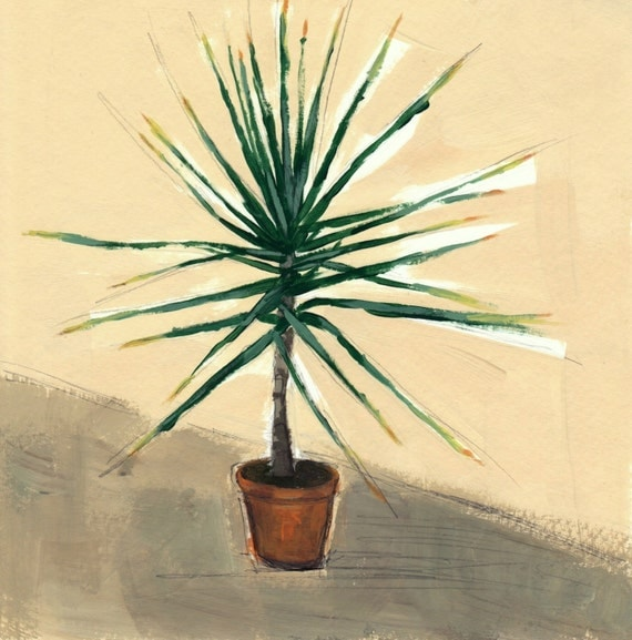 Small Yucca . giclee art print available in all sizes