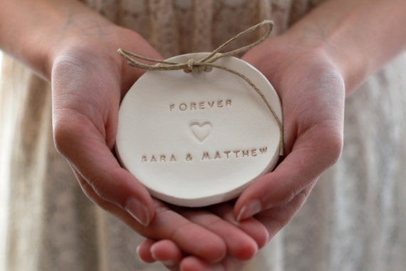 Custom Wedding ring bearer Ring dish Personalized forever Ring pillow alternative Personalized ring bowl ,Aternative ring bearer pillow