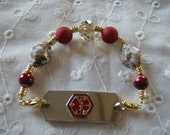 Classy Medical ID Replacement Bracelet Free US Shipping