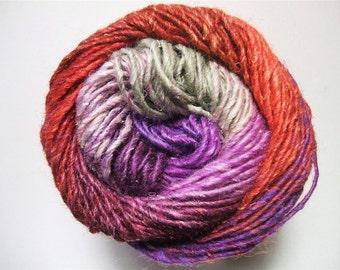 Noro Silk Garden Mohair Wool Yarn Red Grey Purple Lavender Per Skein 389 Lot D