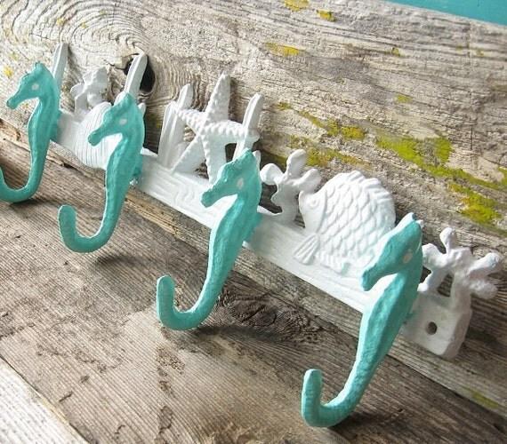 Seahorse Hook Nautical Decor Beach House Decor Coastal
