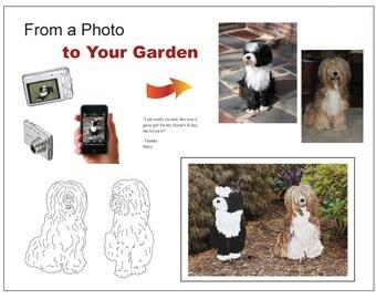 Gift Ideas / Custom Pet Garden Stake / Wall Hanging / Memorial / Pet Portrait