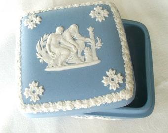 Blue Wedgewood Trinket Box