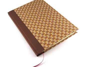 brown journal Diary, autumn wedding Notebook, fall kitchen recipe book, A5 blank book, country style writing journal