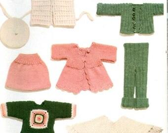 KNITTING CROCHET Pattern  - Dolls' Wardrobe to knit and crochet
