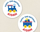 Train Party - Custom Stickers - Sheet of 12 or 24