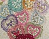 Lace Heart Hand Dyed Venise Applique Embellishment