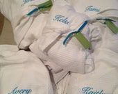 Set of 6 BRIDESMAID Personalized Bath SPA ROBES