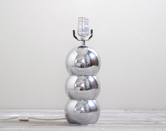 SALE Vintage Table Lamp, Chrome Kovacs Style Silver Ball Lamp