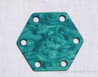 Tablet Weaving Cards 30 Hexagonal Blue Birdseye 6-sided Ancient medieval viking art weaving loom craft work SCA