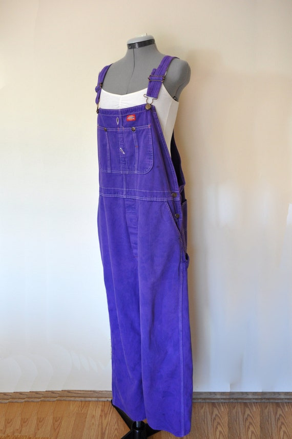 Purple Bib Overalls Hand Dyed Violet Purple Upcycled