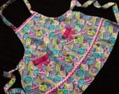 EASTER Egg Children's Apron Girls Pink Bows