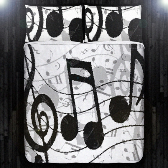 Treble clef note sheet music duvet cover bedding by duvetcover - Music notes comforter ...