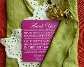 PRINTED Wedding Reception Thank You Card with Holy Sacrament  - Style TY26  | Wedding Thank You | Catholic Thank You | Fuschia Thank You