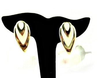 Vintage 1960's Napier Earrings, Clip On Earrings, Screw Back Earrings, Designer Signed , Cream Color, Retro Mid Century, VisionsOfOlde