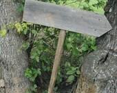 Blank DIY Rustic Wood Wedding Sign on Stake Western Bridal Ready to Ship