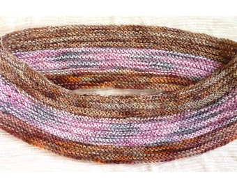 Infinity Scarf, Loop Scarf, Multicolor Infinity Scarf, Multicolor Cowl in Pink, Purple, Brown, Grey, Red, Rust (Unisex)