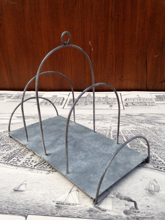 French galvanized wire letter holder for Galvanized letter holder