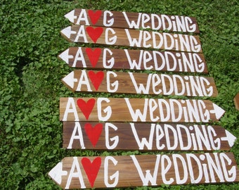 reception signs / rustic wedding signs / wedding decorations / custom signs / personalized signs / wedding signage / wood wedding signs