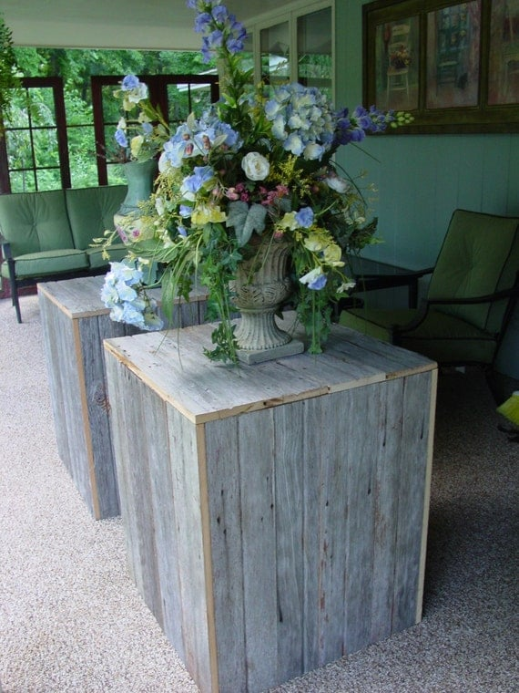 Wedding Reception Ceremony FLOWER STANDS Display 2 Rustic