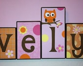 Personalized Wood Blocks - M2M CoCaLo's In the Woods bedding set - Baby Room Decor Custom Name Letters - Baby Letter Blocks